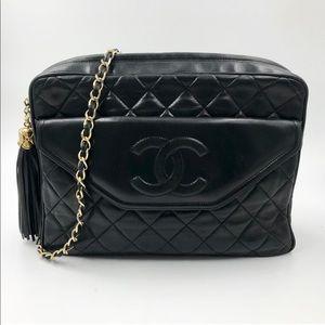 Vintage Chanel Camera Style Bag w/ Tassel